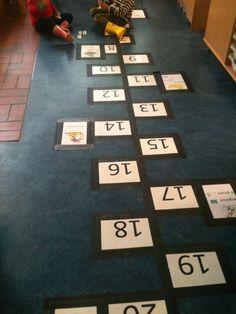 Rekenen en bewegen. Simpele oplossing van de Bekemaschool te Duivendrecht.