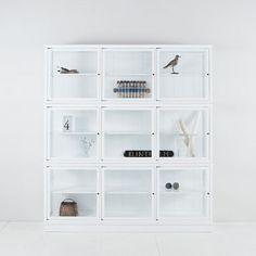 Oliver Furniture Vitrinskåp, vitt 091415