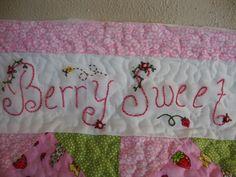 Simple Pleasures: Vintage Strawberry Shortcake Baby Quilt