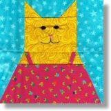 Sundress Kitty Free Quilt Block Pattern