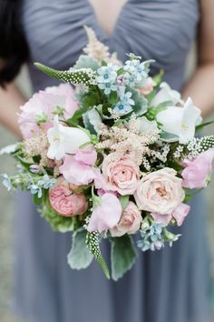 bridesmaid bouquet with pink flowers