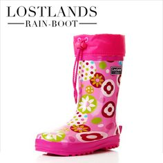 new free shipping high quality child rain boot boys rain boots girl rainboots trophonema liner thermal pink  fashion shoes 6 $66.40