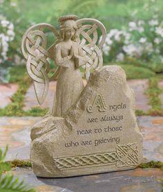 Loving this Angel Bereavement Stone from Grasslands Road on #zulily! #zulilyfinds #GrasslandsRoad #Cement #Wings #Love #halo #Rock #home #Garden #decor