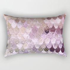 SUMMER MERMAID MOONSHINE GOLD Rectangular Pillow by Monika Strigel   Society6 #pillow #homedecor #decorpillows