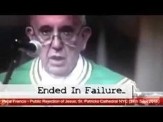 Pope Francis Says Cross Was Failure! Christian Video Channe - YouTube