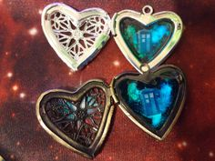 Silver Plated or Brass Glow In The Dark I Heart The by GeekOUTlet
