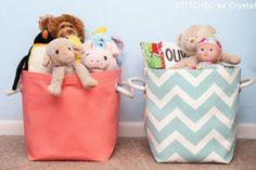 Este organizador de brinquedos para quarto também podem guardar outros itens.