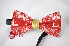 Brown Tan Leather Suspenders Braces Kids Boys Christmas Xmas Elk Deer Bow tie