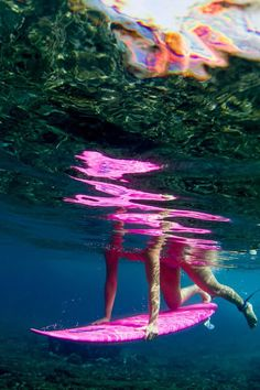 Pink power!  Photo by Sarah Lee  http://highenoughtoseethesea.tumblr.com/  #reef #ocean #underwater #surfing
