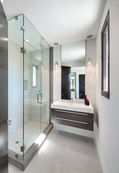 Modern Bathroom at Angelo in Beverly Hills by Boswell Construction #buildboswell