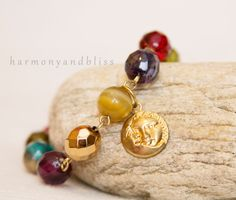 Moon and sun charm multicolored colorful by HarmonyAndBliss