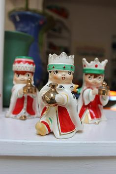 Holt Howard Wee Three Wise Men Candle holders 1960 Japan by Plantdreaming