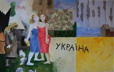 """""""Ukraine"""" Huile/toile-360x220cm-PHILIPPE MEZINSKI-"""