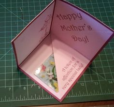Mother's Day card interior.