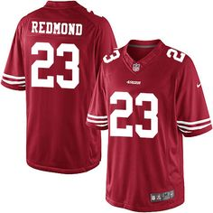 Men's Nike San Francisco 49ers #23 Will Redmond Limited Red Team Color NFL Jersey