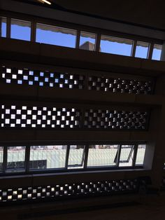 Tate Modern Switch House - view out thru perforated brickwork - preview 15/06/16