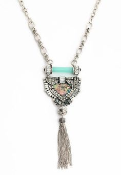 Luxury gorgeous silver long tassel pendent by JewerlyConnection
