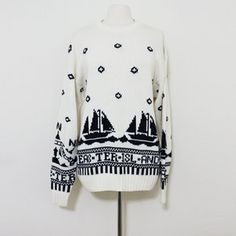 80s Easter Island Sail Sweater now featured on Fab. #Fashion #Vintage