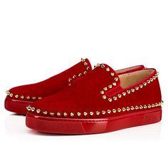 4990598e9cc3 CHRISTIAN LOUBOUTIN Pik Boat Woman Flat Flamenco Gold Suede - Women Shoes - Christian  Louboutin