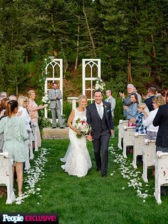 Wedding Album: Inside Chris Klein and Laina Rose Thyfault's Country-Inspired Ceremony Wedding Photo Albums, Wedding Album, Wedding Photos, Chris Klein, Couples Walking, Wedding 2015, Walking Down The Aisle, Just Married, Celebrity Weddings