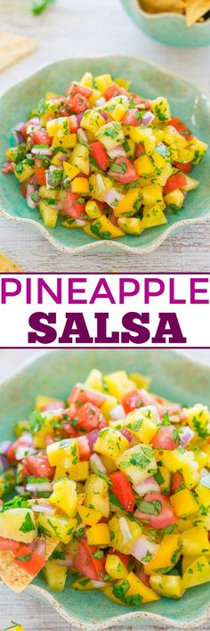 I adore salsa of any kind and can make a meal out of it. No shame in chips and salsa for dinner for me. I especially love fruity salsa. There's something about the sweet and savory element that I can'