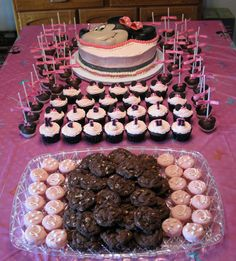 Minnie Mouse Birthday Party Desserts   ...........click here to find out more http://googydog.com    P.S. PLEASE FOLLOW ME IN HERE @Yulia Bekar Bekar watson