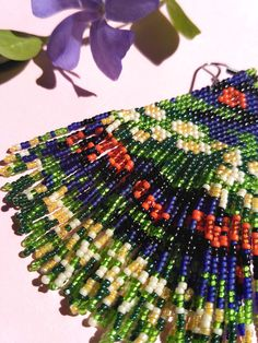 Simple and beautiful hand beaded earrings. Earrings are made of expensive high quality micro beads Item will be shipped in 1-3 days after the purchace with Registered Priority Mail Worldwide. ----------------- Custom orders are welcome - other colors, forms, patterns etc. Feel free to