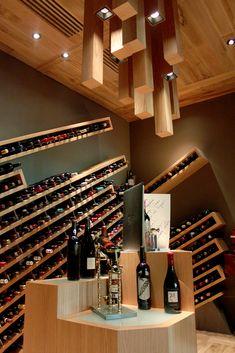 Chapulín restaurant by mob & sama arquitectos liquor store винный погре Home Wine Cellars, Wine Cellar Design, Wine House, Wine Display, Wine Wall, Liquor Store, Tasting Room, Wine Storage, Restaurant Design