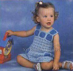 платье вязаное крючком для девочки (3 года)