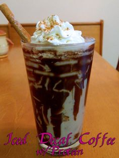 Iced Decaf Coffee w/Protein equals the ultimate protein shake! Perfect for breakfast when you actual food makes you sick and perfect for taking all those pesky vitamins. WLS Meals. WLS Recipes. Eating Bariatric.