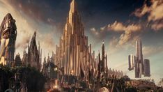 """helshades: """" Thor: The Dark World concept art by Jackson Sze. We never really got to see much of Asgard onscreen, in spite of what Messrs. New Fantasy, Fantasy World, Wattpad, Marvel Avengers, Marvel Comics, Avengers Quotes, Avengers Cast, Loki Fanfiction, Marvel Wall Art"""