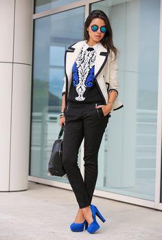 Black N' Blue  , J Crew in Coats, Nasty Gal in Sweaters, Zara in Pants, Pink & Pepper in Heels / Wedges, Alexander Wang in Bags