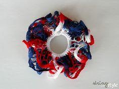 String With Style: Ruffle Hair Bow Ruffle Yarn Projects, Sashay Yarn Projects, Sashay Crochet, Crochet Ruffle, Ruffle Scarf, Sashay Scarf, Crochet Hair Accessories, Crochet Hair Styles, Crochet Crafts