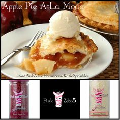 """Apple Pie A-La Mode"" 1/2 Warm Apple Pie, 1/2 Amaretto Cream www.PinkZebraHome.com/KatieSprinkles #PinkZebra #Sprinkles #Recipes"