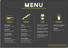 Image result for best hanging menu ideas