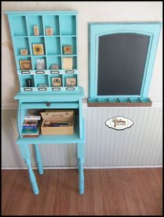 Bread Box Turned Child's Craft Station