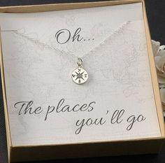 Compass Necklace - 25+ Graduation gift Ideas - http://NoBiggie.net