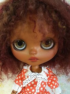 Blythe-custom-African-American-black-OOAK-Art-doll-by-ZZ