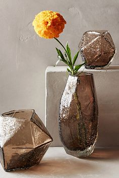 Faceted Gem Vase #anthropologie - a little out of pricerange but love the texture and shape