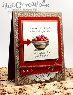 Love this stamp set from Stampin' up and this is a really nice card