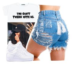 """you can't twerk with us"" by xxsaraxtaraxx ❤ liked on Polyvore featuring NIKE"