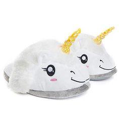 Oferta: 22.99€. Comprar Ofertas de Katara - Zapatillas de casa para adultos - diseño unicornio - zapatos de felpa suave - para otoño y invierno - pantuflas cali barato. ¡Mira las ofertas!