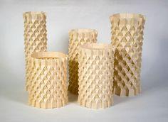 Ilan Garibi has continued to translate his beautiful origami tessellations into purposeful home decor.