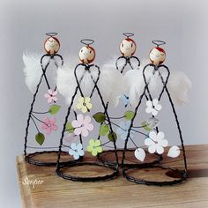 1 million+ Stunning Free Images to Use Anywhere Wire Crafts, Christmas Crafts, Diy And Crafts, Arts And Crafts, Christmas Decorations, Christmas Ornaments, Wire Ornaments, Angel Ornaments, Christmas Angels