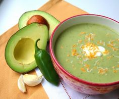 Chilled Guacamole Soup - perfect for the 4th of July festivities!