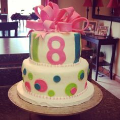 Birthday Cake for an eight year old girl!!
