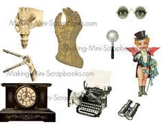 Printable Steampunk Collage Sheet