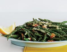 Green beans with parmesan and garlic.