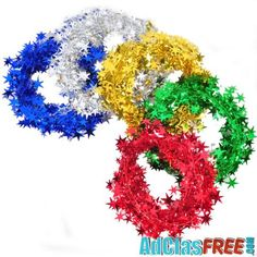 Color Bar Strip Christmas Decoration - US Classified Ads Five Pointed Star, Post Free Ads, Ribbon Colors, Festival Party, Party Supplies, Garland, Reception, Christmas Decorations, Wrought Iron