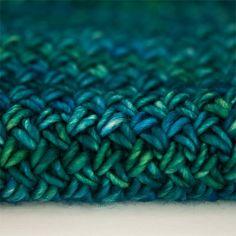 Plaited Basket Stitch Scarf. malabrigo Mecha, Solis colorway.